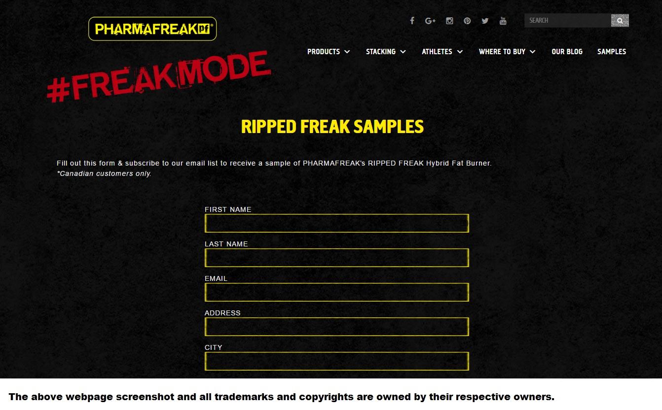 TryFreebies.com | FREE Pharmafreak Ripped Hybrid Fat Burner Sample