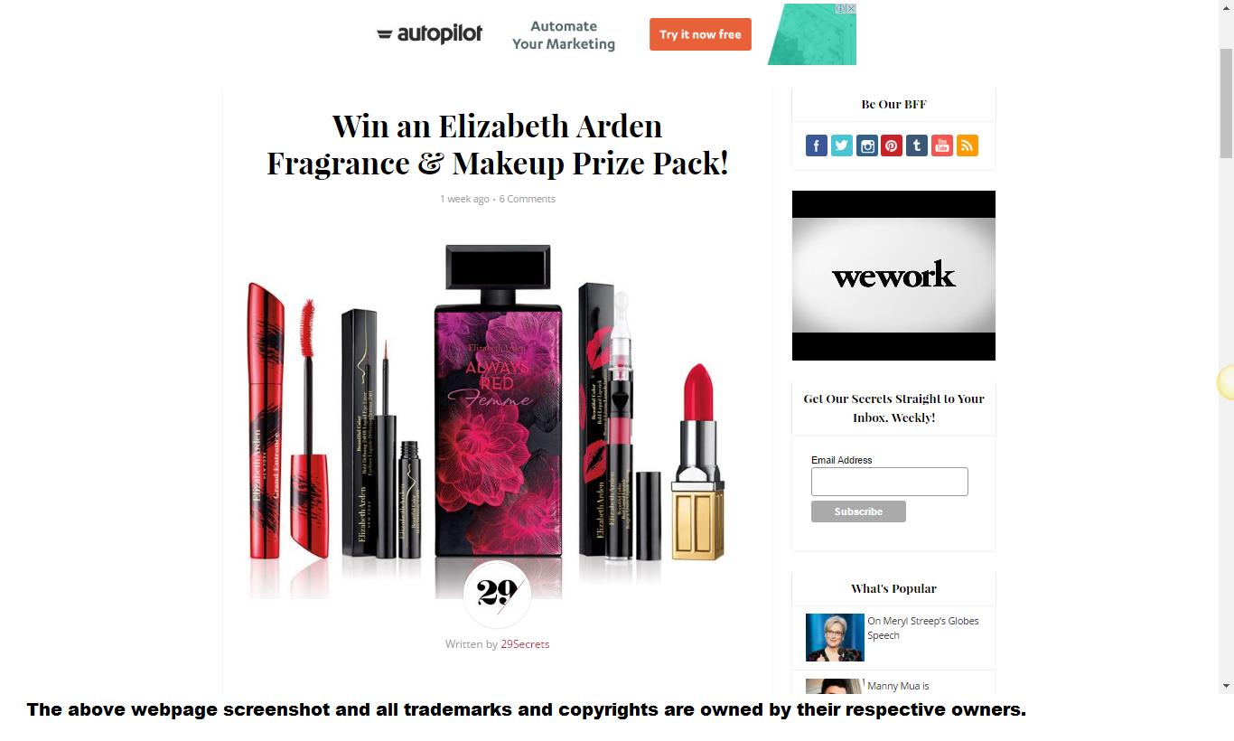 Elizabeth Arden Makeup Free Gift