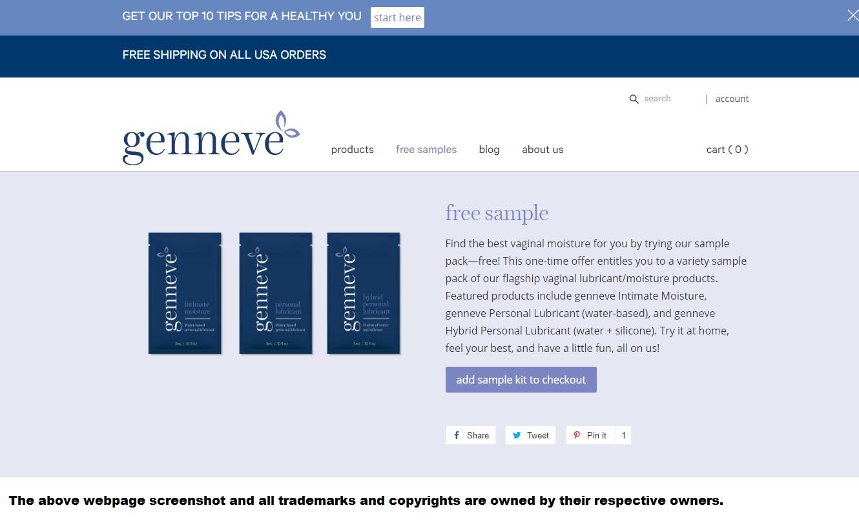 TryFreebies.com | Free Genneve Vaginal Moisturizer & Lube Sample
