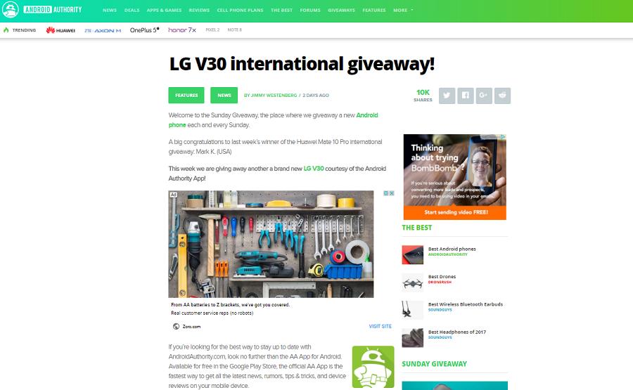 Giveaways 2018 international aa