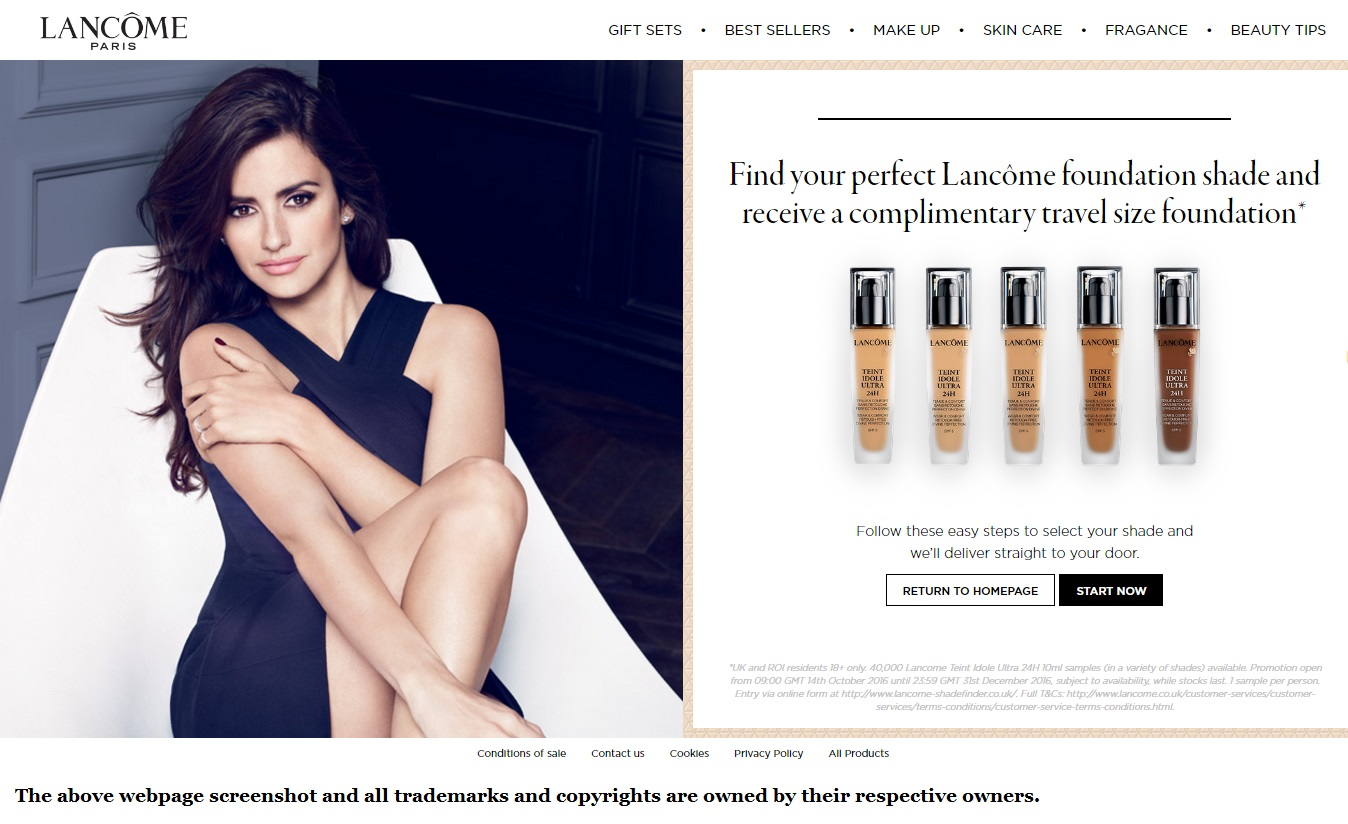 Lancôme Foundation Free Samples