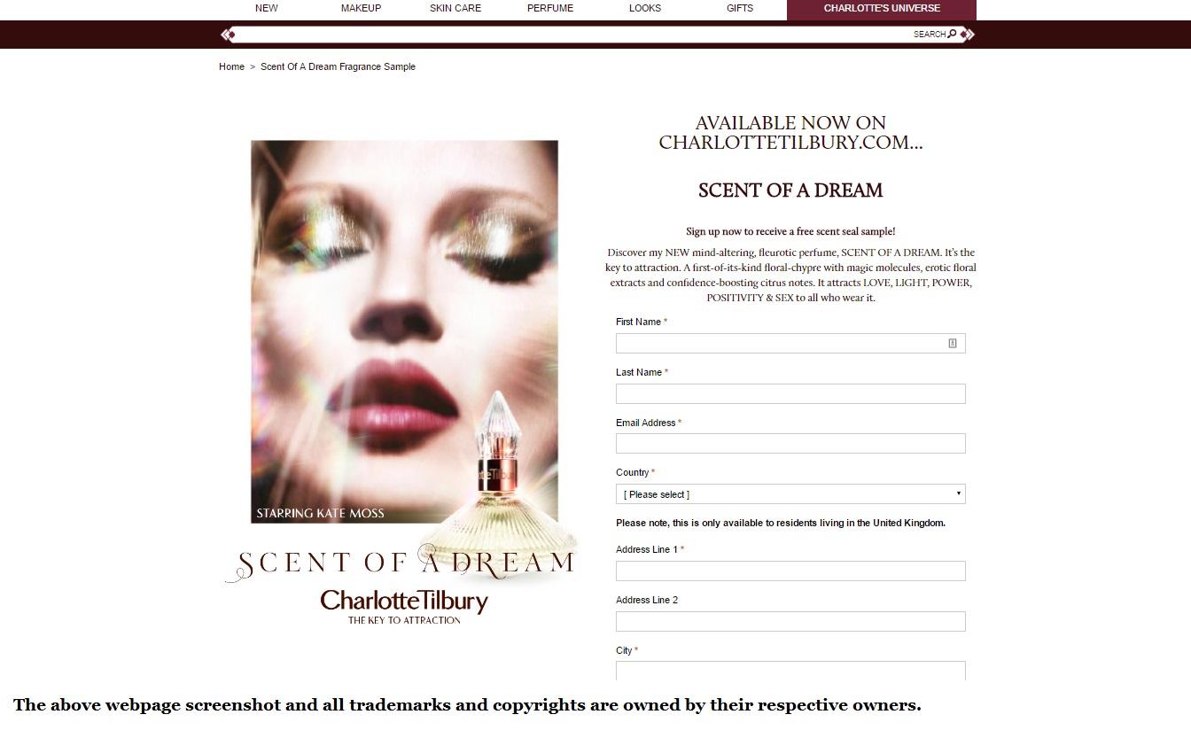 Charlotte Tilbury Perfume Free Sample