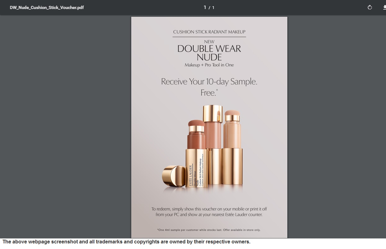 FREE Estee Lauder Double Wear Makeup Stick Sample