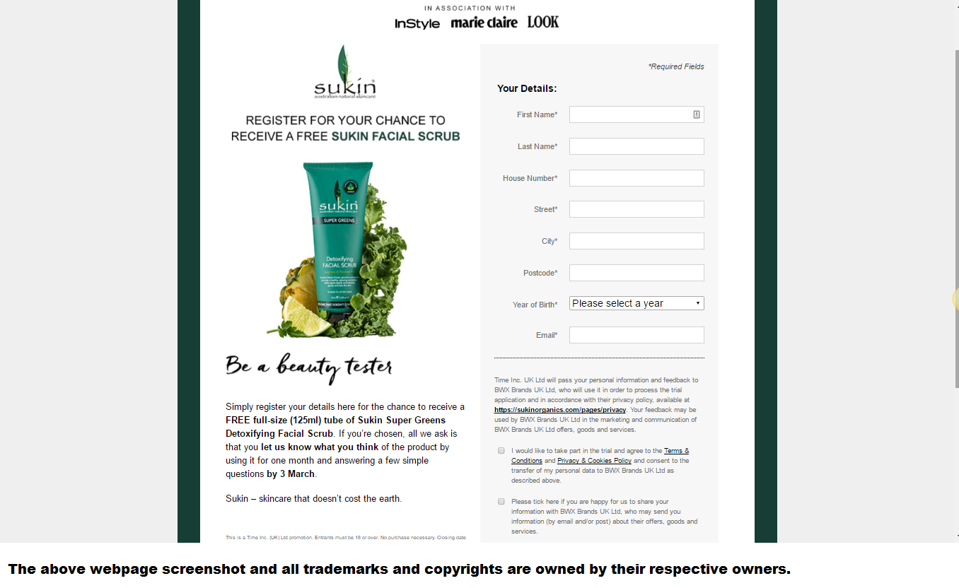 Free Sample Sukin Super Greens Facial Scrub