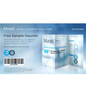 Free Murad Acne Clearing Solutio n sample. To get it just follow the ...