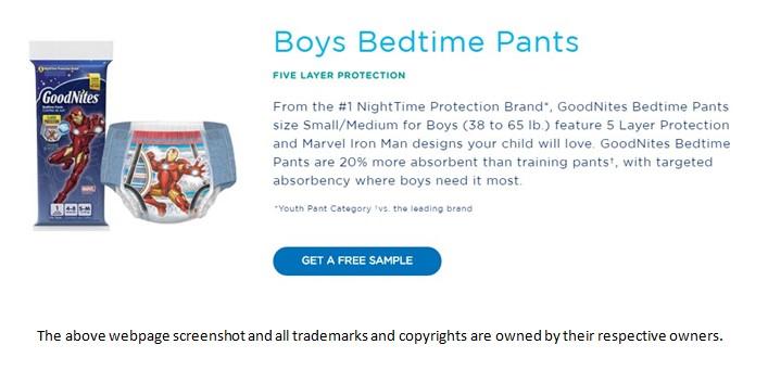 TryFreebies.com | FREE Goodnites Bedtime Pants Sample!