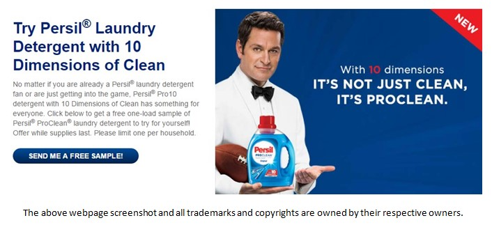 TryFreebies.com | FREE Persil ProClean Laundry Detergent Sample!